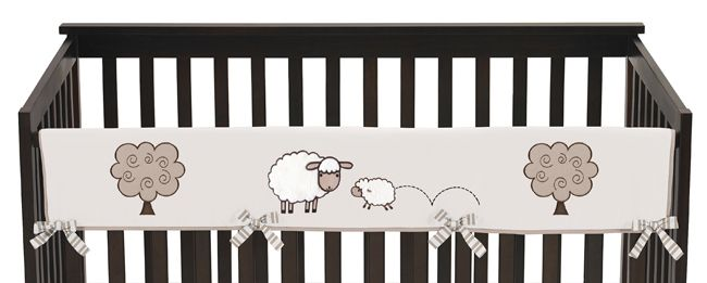 Lamb Collection Long Rail Guard Cover by Sweet Jojo Designs