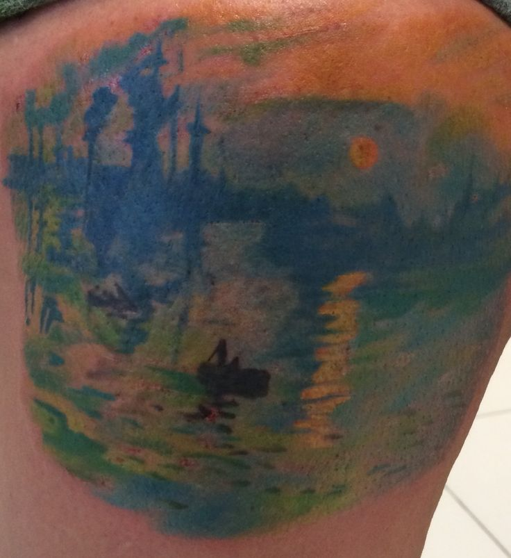 Monet sunrise Tattoo artist Rebellious Tony from Ink Couture NYC