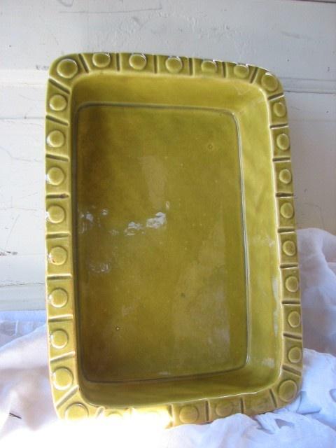 MidCentury Baking  Dish Haegar  Citron Ceramic  from by tessiemay, $32.00