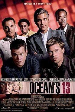 Ocean's Thirteen (also written as Ocean's 13) is a 2007 American comedy heist film directed by Steven Soderbergh and starring an ensemble cast. It is the third and final film in the Soderbergh-directed Ocean's Trilogy, following the 2004 sequel Ocean's Twelve and the 2001 film Ocean's Eleven, which itself was a remake of the 1960 Rat Pack film Ocean's 11.