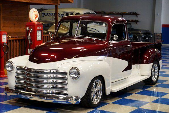 1948 Chevrolet 5-Window Long Bed Pickup - Burgundy And Polar White
