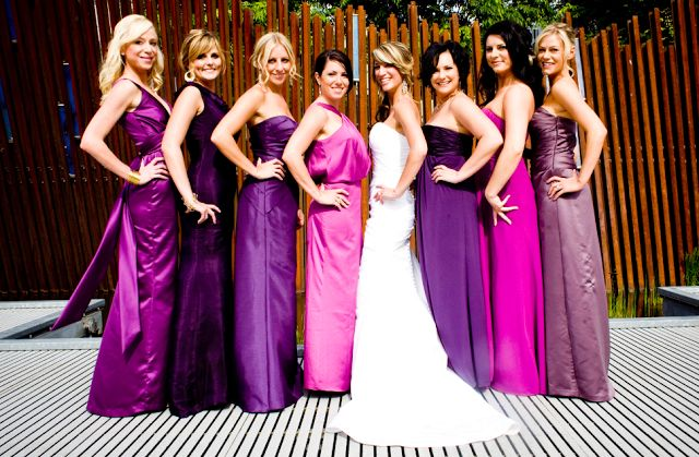 shades of purple wedding - Google Search  But not purple :)