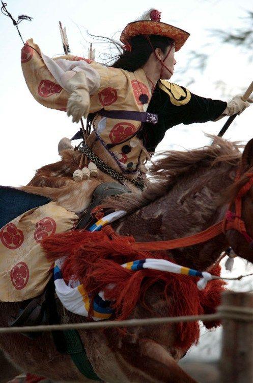流鏑馬は、日本の儀式は、アーチェリーを搭載しています。   NEAATOブログ