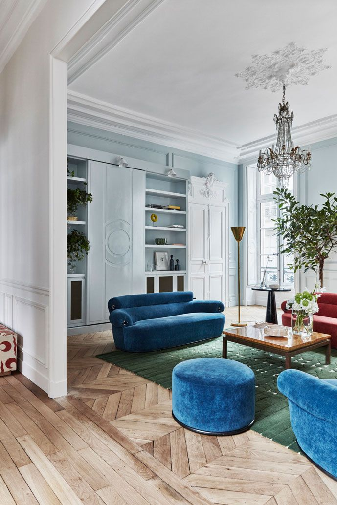 Gorgeous Eclectic Apartment In 17th Century Building In Paris