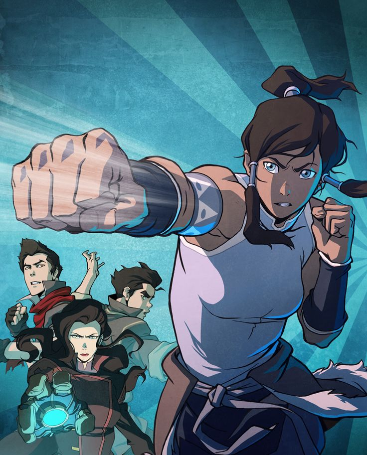 """Bryan K. """"Here is the cover art for the Legend of Korra Book 1 DVD/Blu-Ray that Ryu Ki Hyun drew and I colored. It will be released on July 16th, 2013."""""""