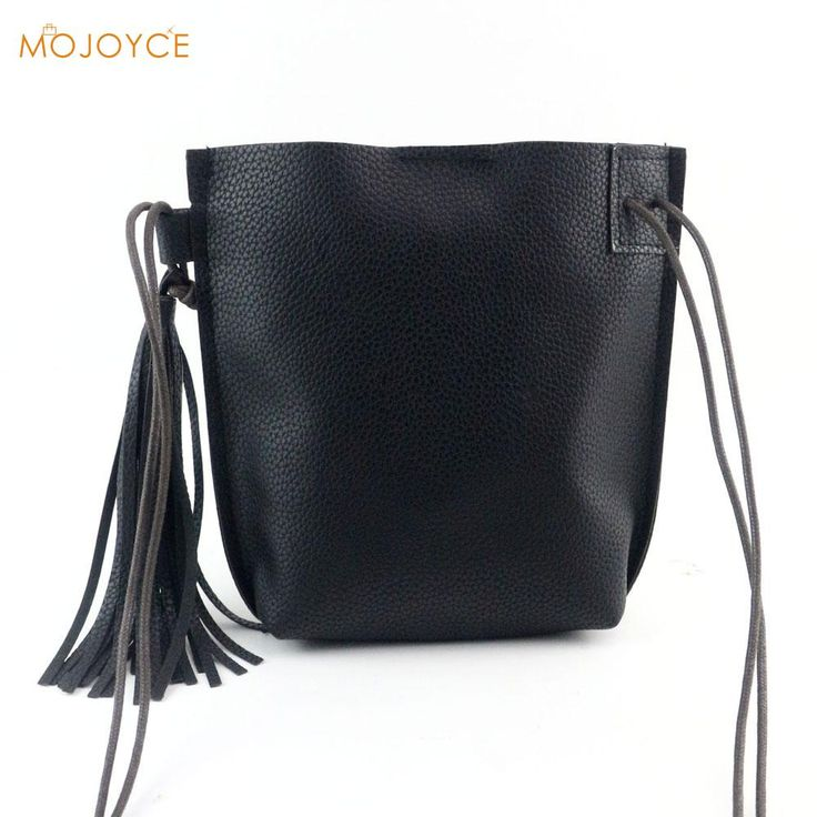 Visit to Buy  Women Fashion Retro Envelope Handbag Tassel Soft PU leather  Shoulder Bags Solid Hasp Large Tote Ladies Coin Purse Motorcycle bag 939b11548b