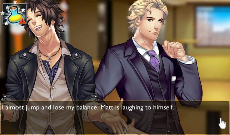 Playing a free mobile app or otome