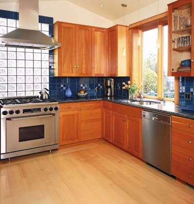 Blue Kitchen Countertops Popular Materials In The Kitchen Right Now Include Plastic Laminate