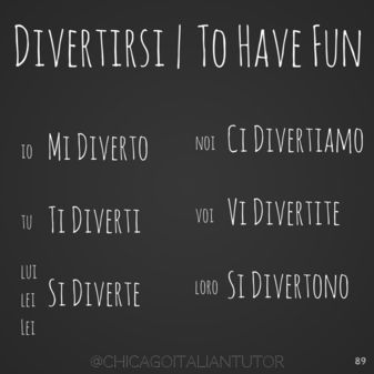 Follow our Summer Verb Challenge! Every day you will learn a new verb in the present tense. Be sure to follow us on Facebook & Instagram for daily updates! #100daysofverbs #italianlessons #learnitalian