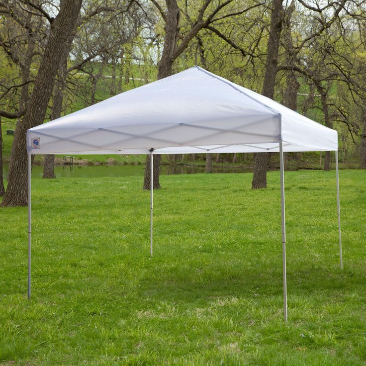 White 10-Ft x 10-Ft Outdoor Canopy Tent Gazebo with Steel Frame and Carry Bag - Quality House