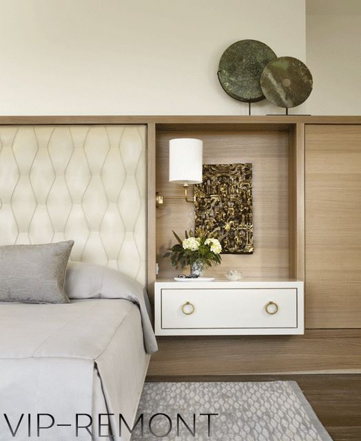 кровать двуспальная с подвесными тумбочками встроеными в изголовье - Поиск в Google