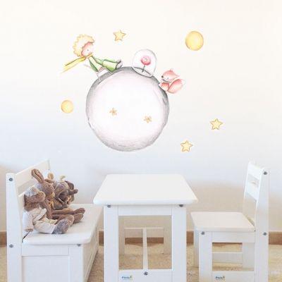 Decoración infantil Il Mondo di Alex, Vinilos - Stickers efecto pintado a mano, EL PRINCIPITO... personalizado con nombre y a medida.
