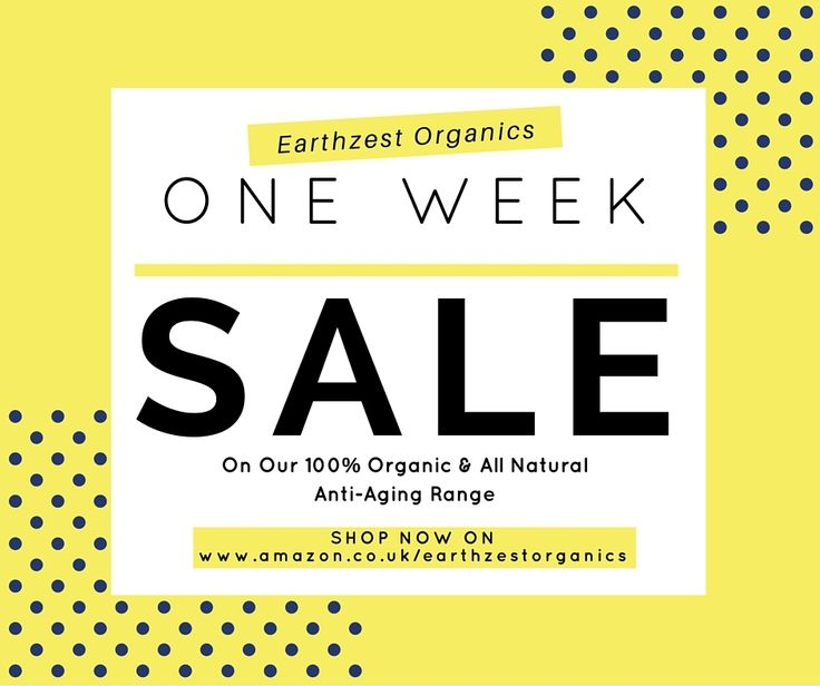 Hurry before this one week #sale on 100% #organic #AntiAging #skincare range ! Get yours today! http://amzn.to/1OKaxfl by earthzest.amazon