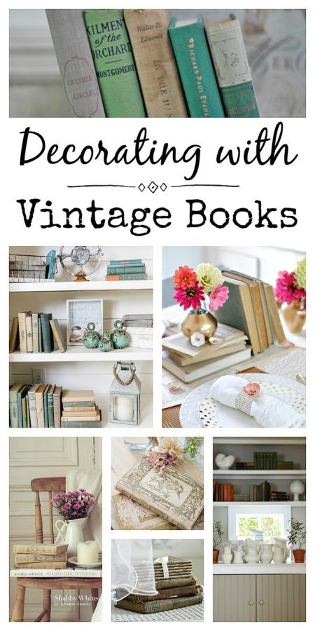 Superb How To Decorate With Vintage Books