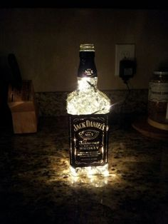 jack daniels gel beads & led lights??