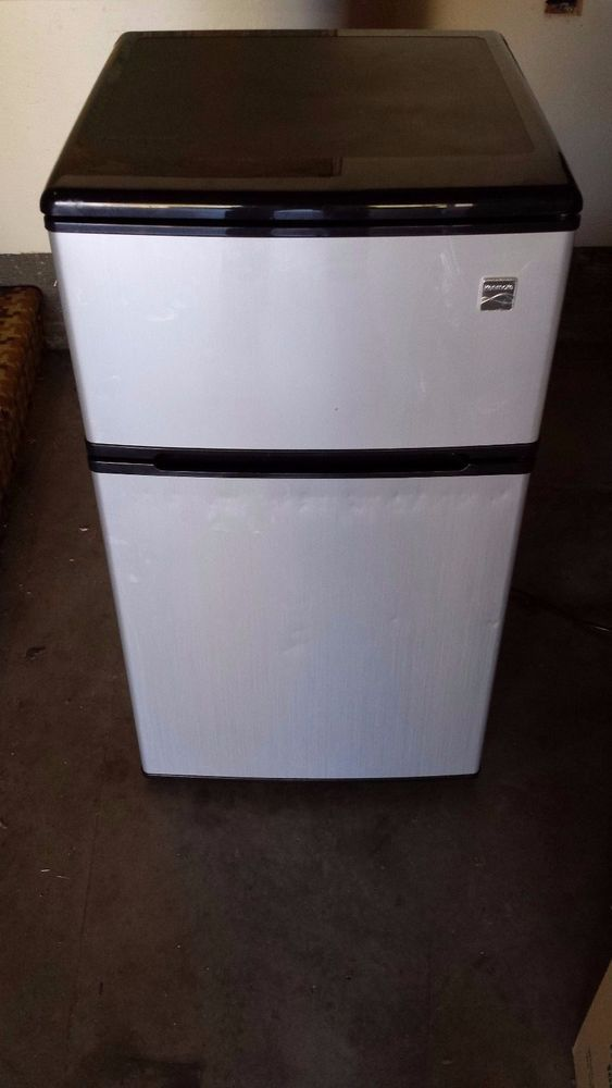 Mini Fridge with Freezer Kenmore Refrigerator 3.1 cu ft Compact, Stainless Steel…
