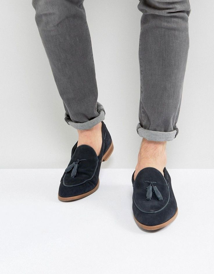 ASOS Loafers In Suede With Tape Detail eHctYcKm