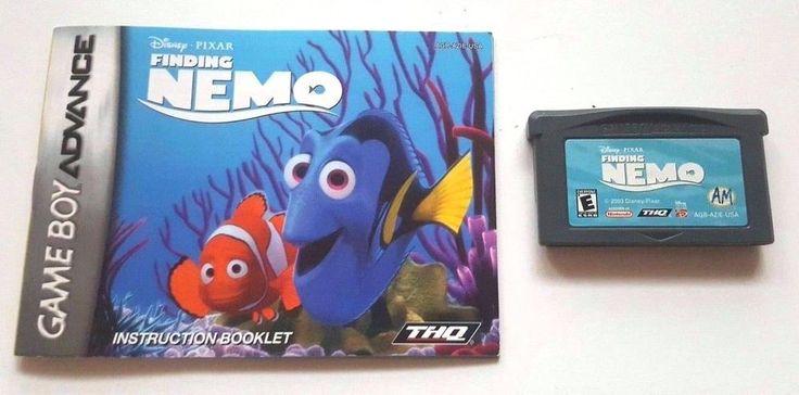 Gameboy Advance Game Gba SP DS Dsl DISNEY PIXAR FINDING NEMO + Manual