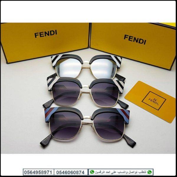 نظارات فندي نسائي Fendi درجه اولى مع جميع الملحقات وبنفس الاسم هدايا هنوف Sunglasses Oval Sunglass Glasses