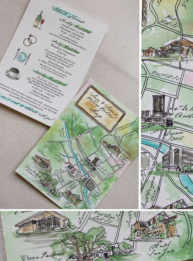 Love these watercolour maps for guests 8
