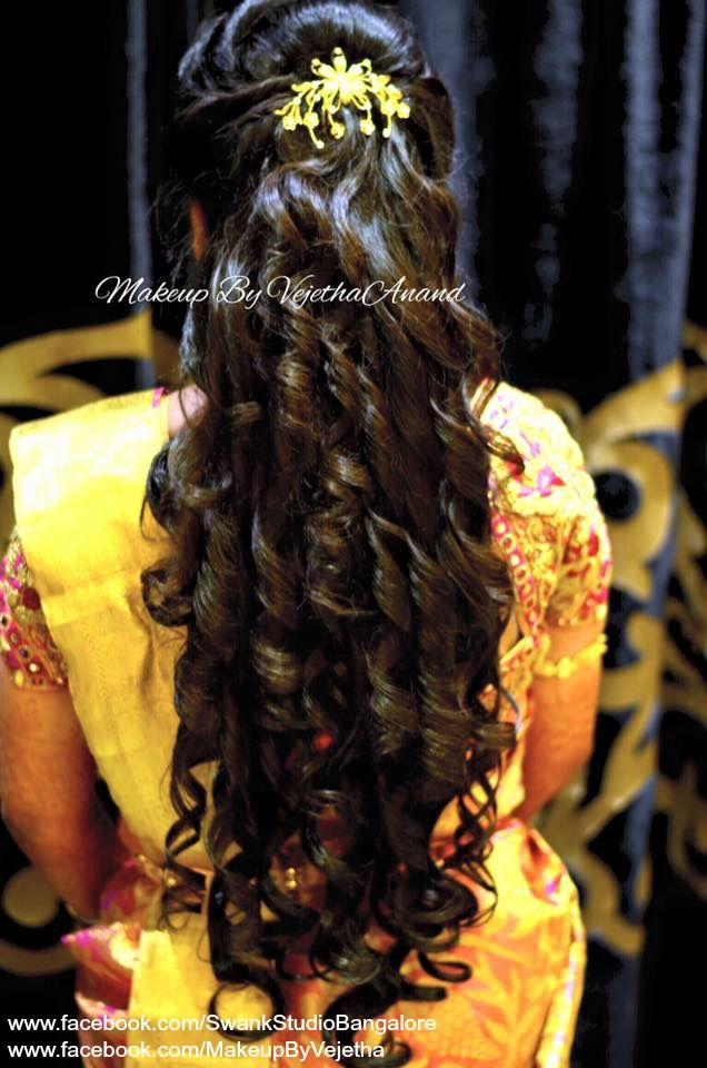 Indian Bride S Reception Hairstyle By Vejetha For Swank