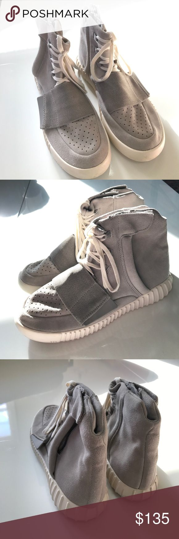 Adidas Yeezy Boost 750 Kanye West Adidas Yeezy Boost 750 Sneaker • Worn once - great condition • Comes with dust bags for each shoe and white and yeezy laces (both pictured) • Not authentic, but from the same factory that the real Yeezy's are made in Adidas Shoes Sneakers