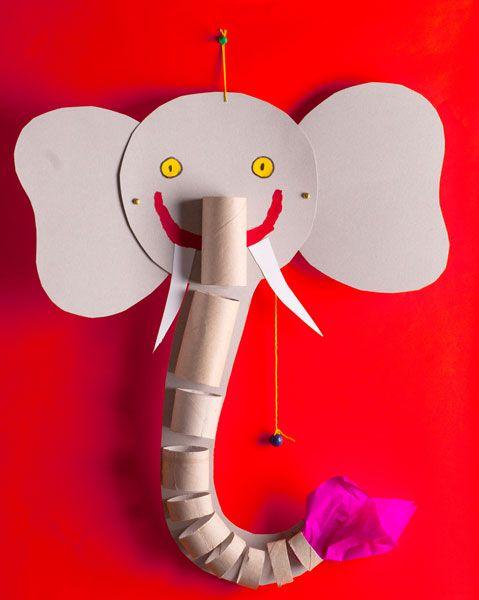 olifant knutselen met kleuters