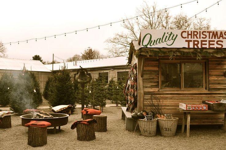 vintage Christmas tree stand photo