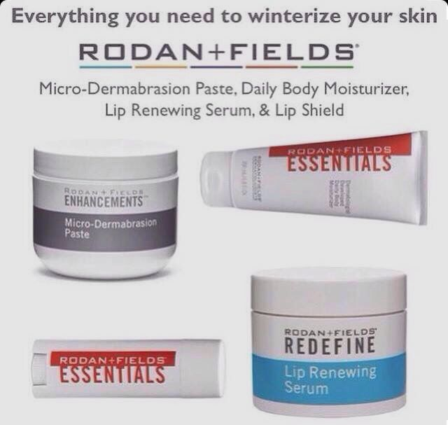 Winter is coming. I'm always getting chapped hands & red irritated skin during this time. I've tried it all and it just doesn't do it like Rodan + Fields products. Trust me you need these products!!! Kimberlylacapra.myrandf.com