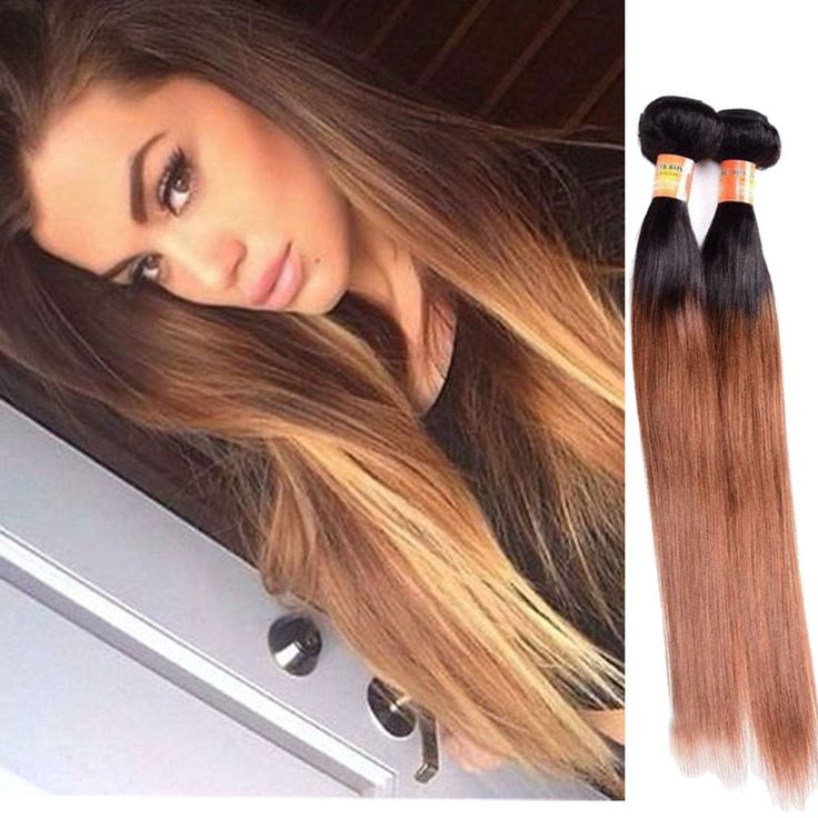 "Brazilian 14"" 150g Real Human Hair Extension 1B/30 Silky Straight Hair Weft New #Unbranded"
