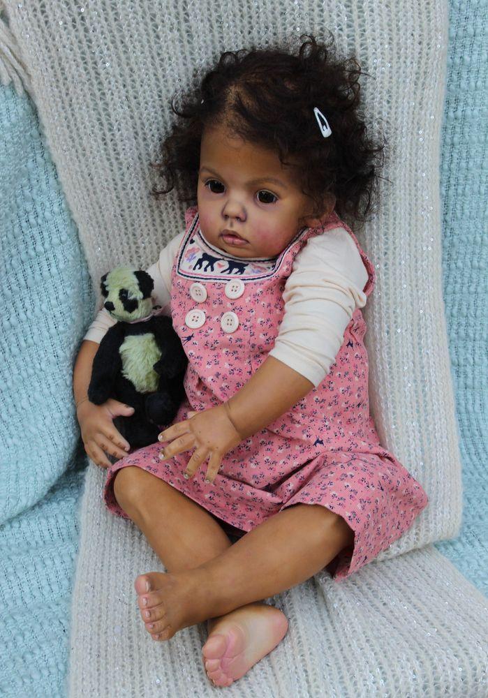 CUSTOM ORDER Reborn Doll Big Baby Girl Ethnic Black AA Toddler By Katie Messou in Dolls & Bears   eBay