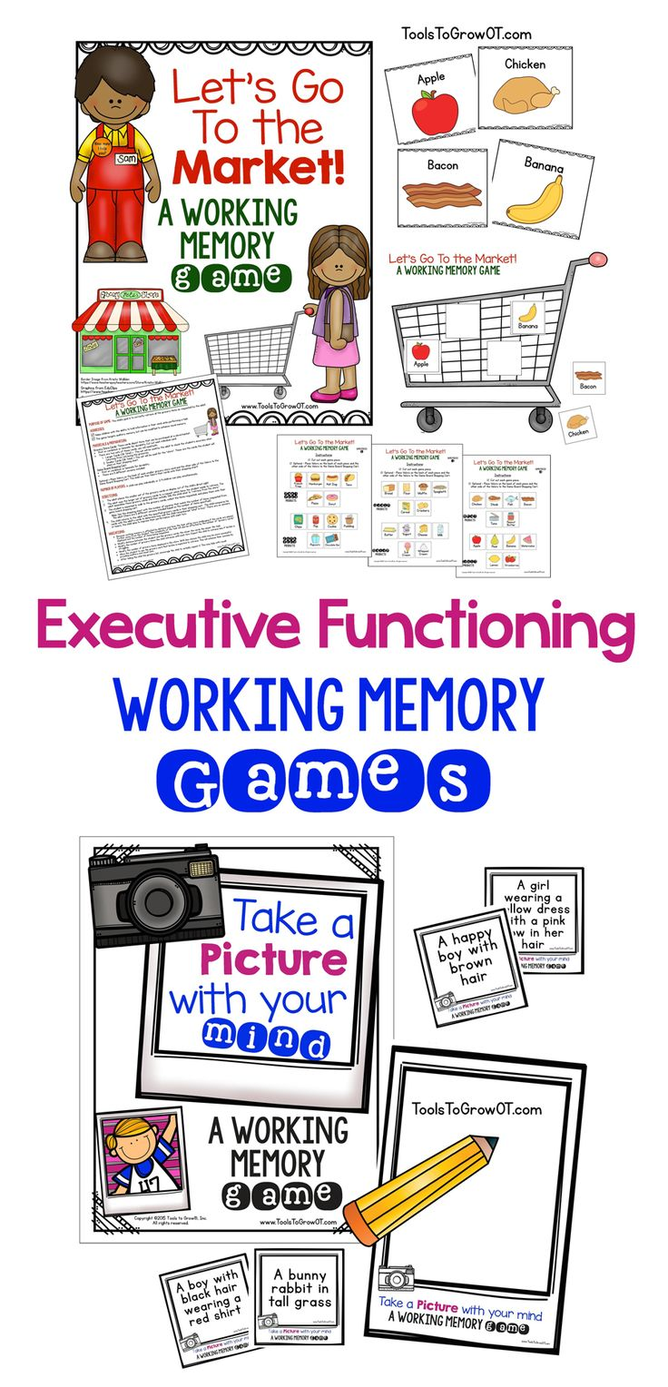 Working Memory & Executive Functioning Resources.
