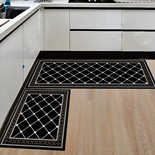 Hebe Kitchen Rugs 2 Piece Non Slip Kitchen Mat And Rug Rubber