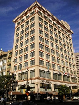 Gaslamp Plaza Suites, San Diego.  When we had our timeshare we came here for 7 days and stayed in this hotel.  The staff were quite friendly and helpful.