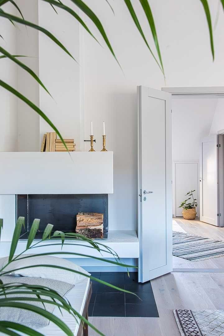 Чистые линии в квартире на чердаке в Стокгольме   Пуфик - блог о дизайне интерьера