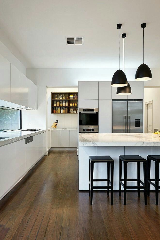 """Possible to push the """"back wall"""" of the kitchen out a bit into the room to incorporate a pantry behind?"""