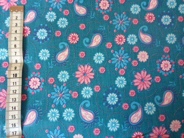 Stoff Streublumen - Baumwollstoff Meterware Blumen Paisley - ein Designerstück von Sonni-Mami bei DaWanda