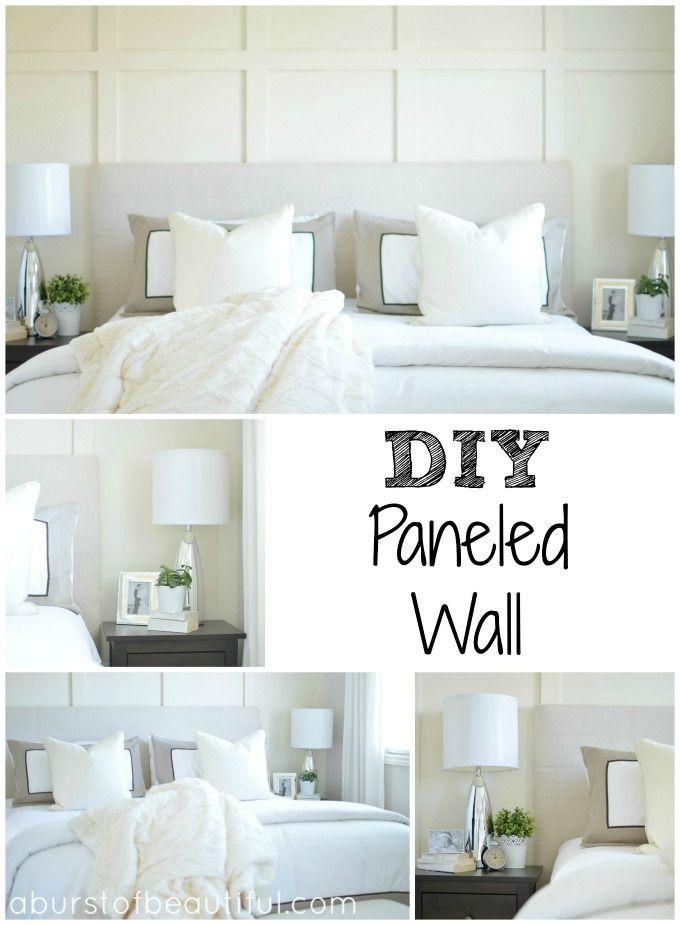 Diy Paneled Wall Diy Wall Master Bedrooms And Easy Diy
