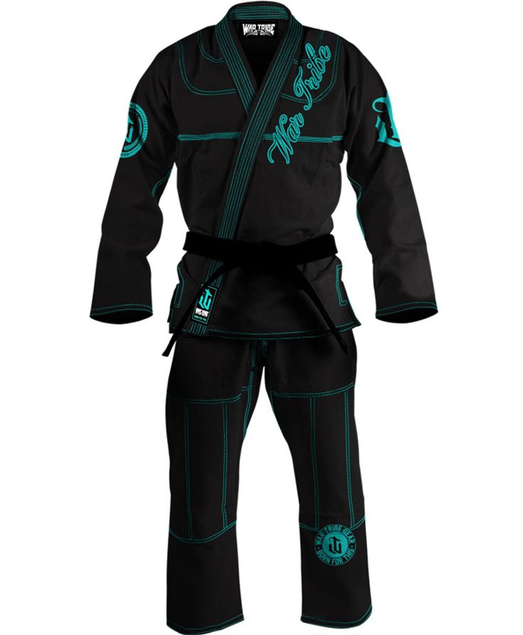 Martial arts training gear, and accessories WAR TRIBE WOMEN'S GI BLACK/TEAL Jiu Jitsu Judo