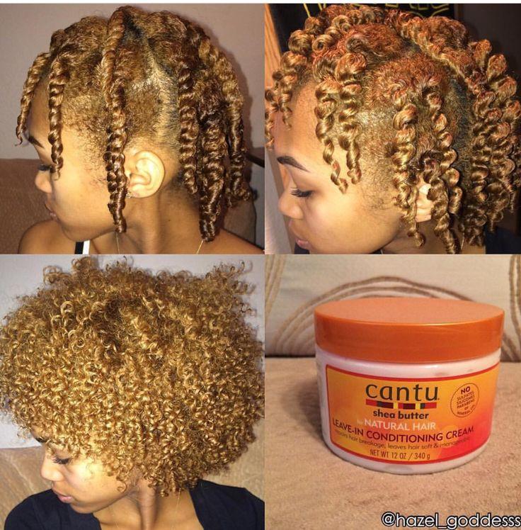 Two strand twist out short/medium hair