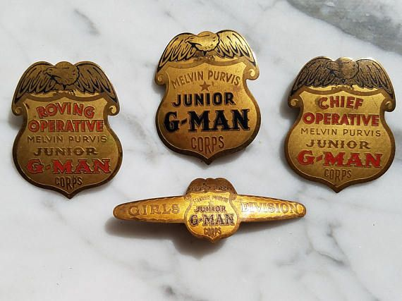 1936 Complete Set of Melvin Purvis Junior G-Man Corps Post