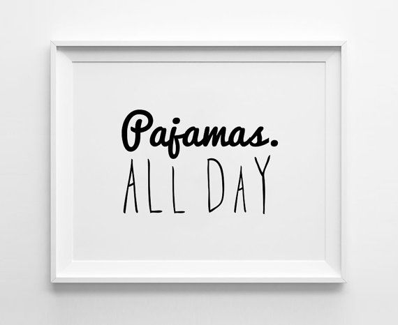 Weekend posters print, typography art, home wall decor, mottos, handwritten, freedom, relax, off day, pajamas all day, decorative art on Etsy, $14.00