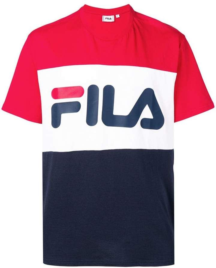 Fila logo print colour block T shirt | Mens shirts, Mens
