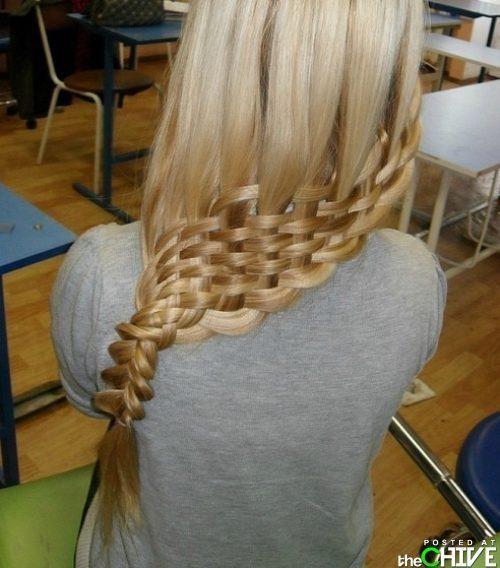 Pretty cool: Hair Ideas, Hairstyles, Baskets Weaving, Hair Weaving, Makeup, Long Hair, Beautiful, Weaving Braids, Hair Style