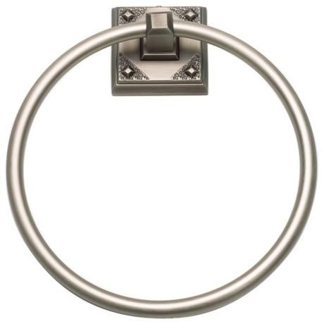 "Craftsman 7 3/4"" High Pewter Towel Ring"