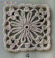 crochet square - pretty