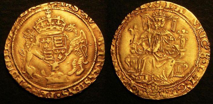 Enrico VIII, moneta, Half Sovereign, XVI sec.
