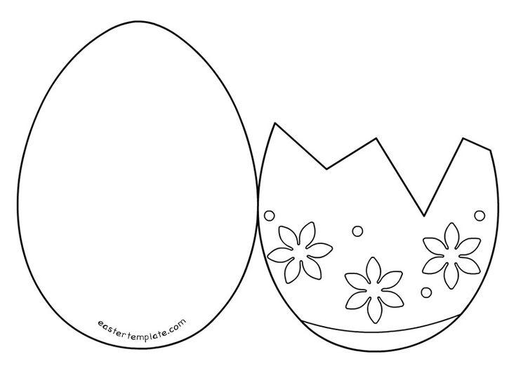 Easter egg card templates printable (com imagens