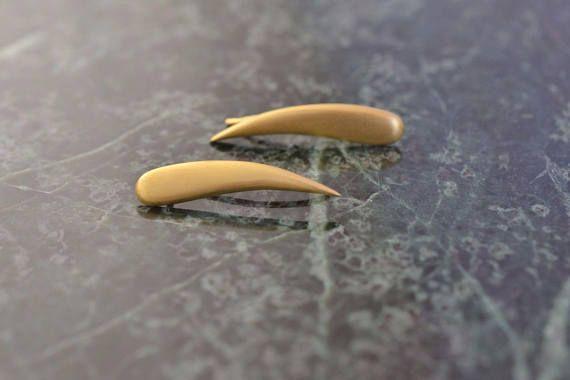 Gold Ear Climbers Solid 18k Gold Earrings Ear Crawlers Gold