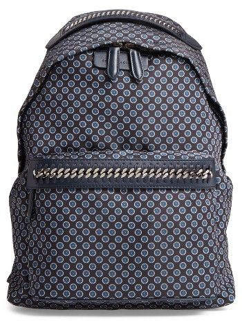 Stella Mccartney Falabella Print Backpack - Blue